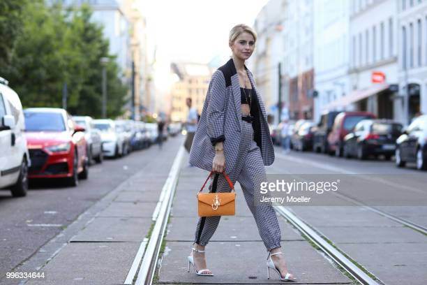 Caro Daur attends the Magazine Lauch Party on July 6 2018 in Berlin Germany