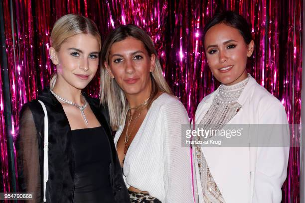 Caro Daur Aylin Koenig and Laura Noltemeyer during the Bulgari Omnia Pink Sapphire party on May 4 2018 in Berlin Germany
