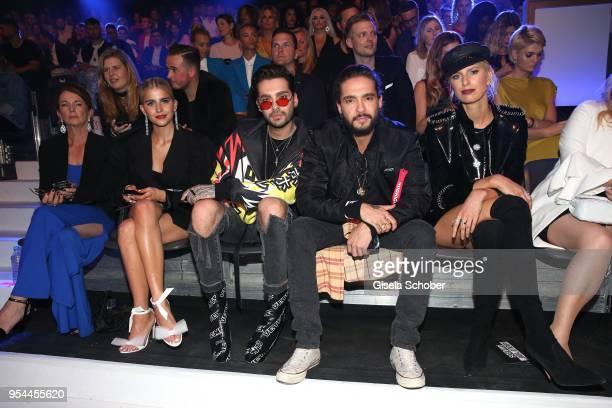 Caro Daur Bill Kaulitz and his brother Tom Kaulitz and Karolina Kurkova during the 2nd ABOUT YOU Awards 2018 at Bavaria Studios on May 3 2018 in...