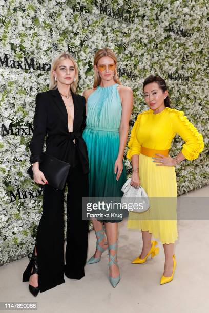 Caro Daur Charlott Cordes and Tina Craig during the Max Mara Resort 2020 Fashion Show at Neues Museum on June 3 2019 in Berlin Germany