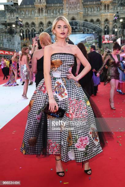 Caro Daur during the Life Ball 2018 at City Hall on June 2 2018 in Vienna Austria The Life Ball an annual charity event raising funds for HIV AIDS...