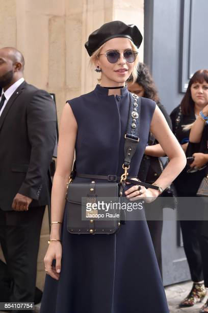 bb1a1653ba4 Caro Daur is seen arriving at Dior fashion show during Paris Fashion Week  Womenswear Spring