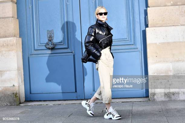 Caro Daur is seen arriving at Lanvin fashion show during Paris Fashion Week Womenswear Fall/Winter 2018/2019 on February 28 2018 in Paris France