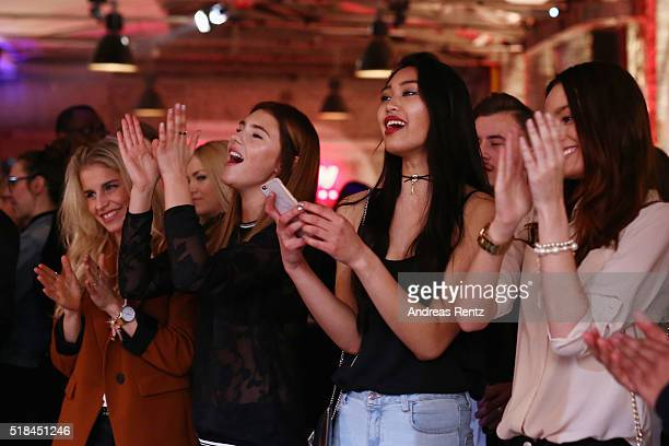 Caro Daur, Stefanie Giesinger, Anuthida Ploypetch and Jueli Mery attend the REVIEW by Sami Slimani Capsule Collection launch party on March 31, 2016...