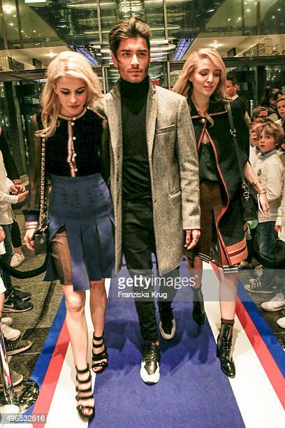 Caro Daur Toni Mahfud and Leonie Sophie Hanne attend the Tommy Hilfiger X Rafael Nadal @ Breuninger on November 10 2015 in Stuttgart Germany