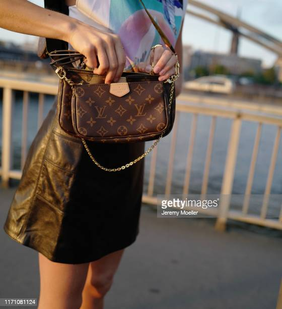 Caro Daur wearing a complete Louis Vuitton look with the new Multi Pochette and Cartier jewelry on August 29 2019 in Hamburg Germany
