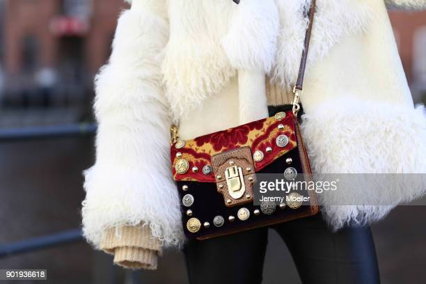 Caro Daur wearing a Dolce Gabbanna bag on October 30 2017 in Hamburg