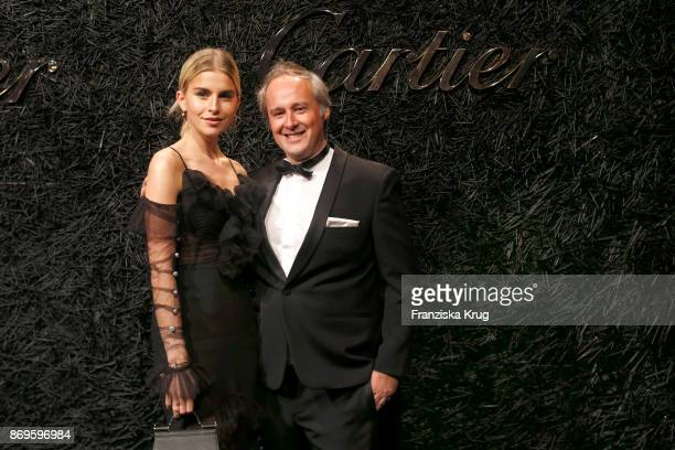 Caro Daur wearing a JUSTE UN CLOU Bracelet and Managing Director Cartier Northern Europe Renaud Lestringant attend the When the Ordinary becomes...