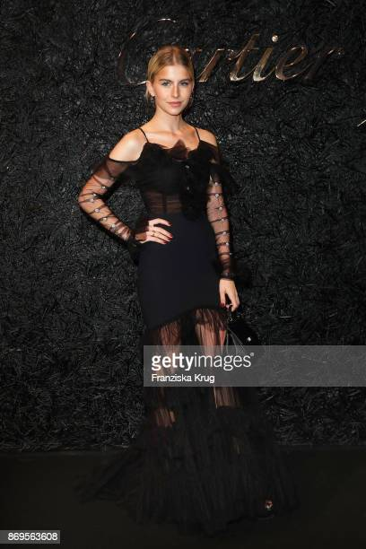 Caro Daur wearing a Juste un Clou Bracelet attends the When the Ordinary becomes Precious #CartierParty at Old Power Station on November 2 2017 in...