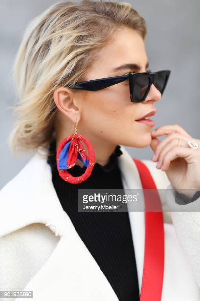 Caro Daur wearing a Topshop coat and a Celine sunglasses on October 30 2017 in Hamburg