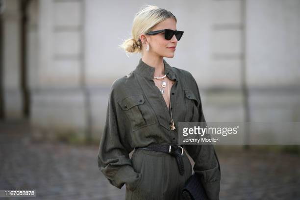 Caro Daur wearing Lala Berlin jumpsuits on August 08 2019 in Copenhagen Denmark
