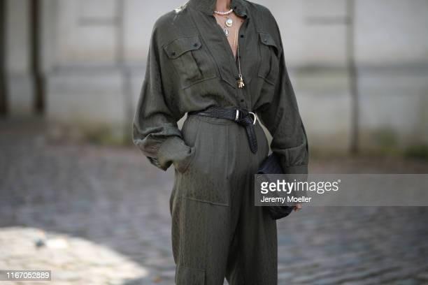 Caro Daur wearing Lala Berlin jumpsuits on August 08 2019 in Copenhagen Denmark