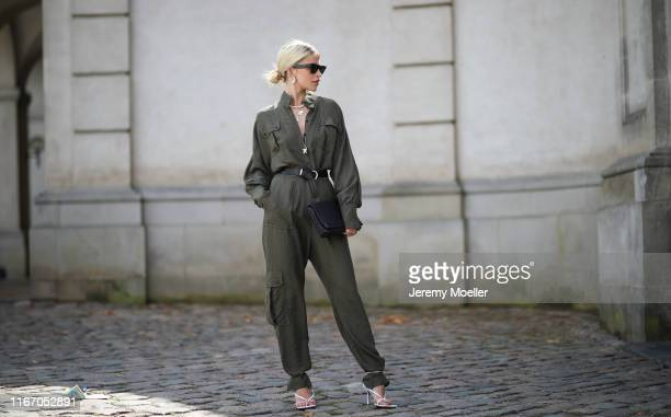 Caro Daur wearing Lala Berlin jumpsuits on August 08, 2019 in Copenhagen, Denmark.