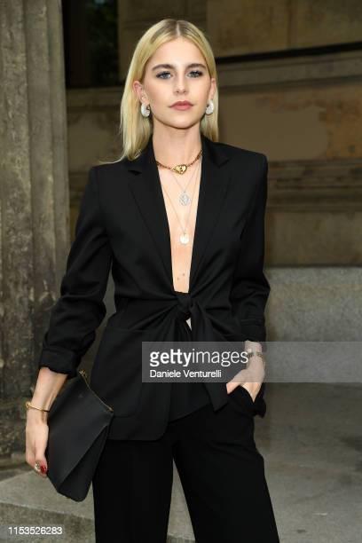 Caro Daur wearing Max Mara attends the Max Mara Resort 2020 Fashion Show at Neues Museum on June 03 2019 in Berlin Germany