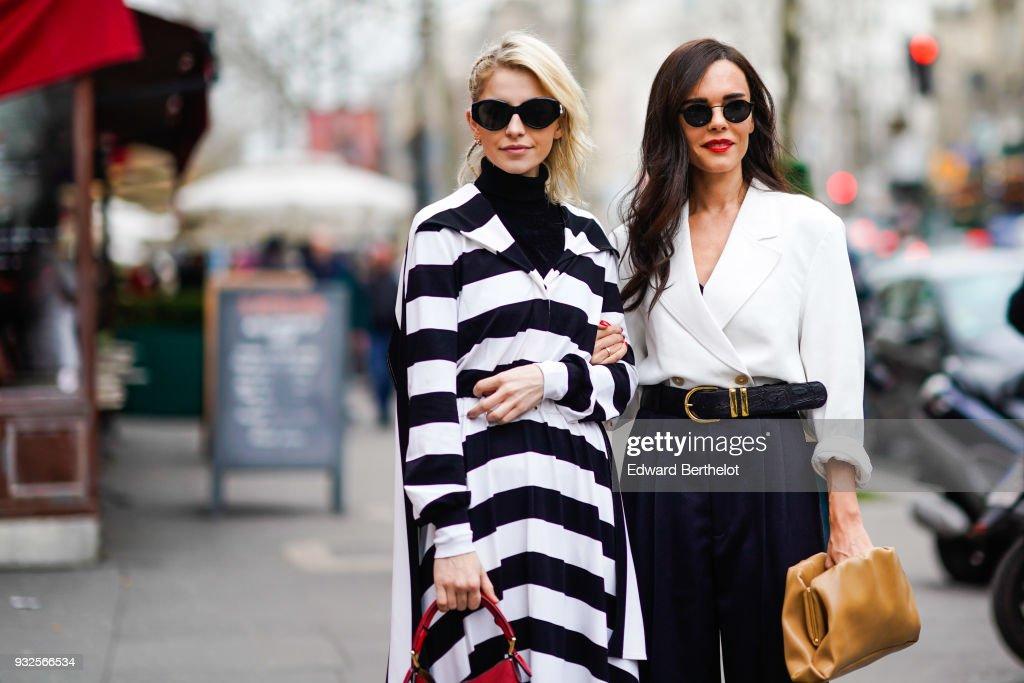 Street Style : Paris Fashion Week Womenswear Fall/Winter 2018/2019 : Day Six : Photo d'actualité