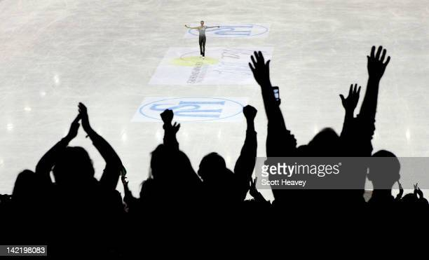Caroina Kostner of Italy is applauded by the crowd after her performance during day six of the ISU World Figure Skating Championships on March 31...