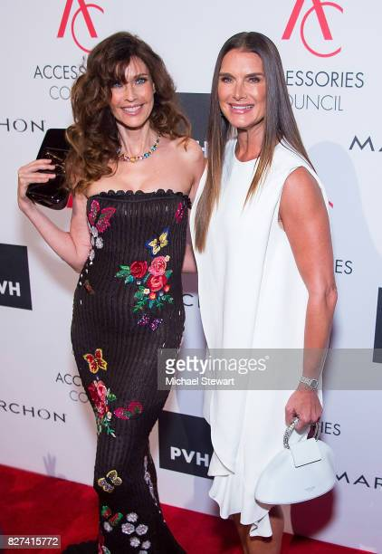 Carol Alt and Brooke Shields attend the 21st Annual Ace Awards at Cipriani 42nd Street on August 7 2017 in New York City