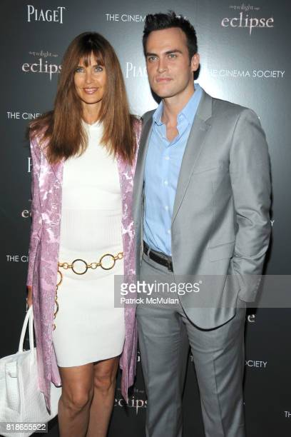 Carol Alt and Cheyenne Jackson attend THE CINEMA SOCIETY PIAGET host a screening of THE TWILIGHT SAGA ECLIPSE at Crosby Street Hotel on June 28 2010...
