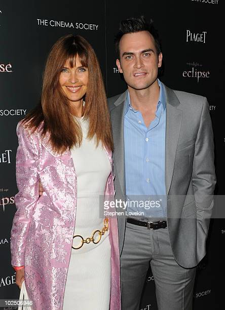 Carol Alt and Cheyenne Jackson attend The Cinema Society Screening Of The Twilight Saga Eclipse at Crosby Street Hotel on June 28 2010 in New York...