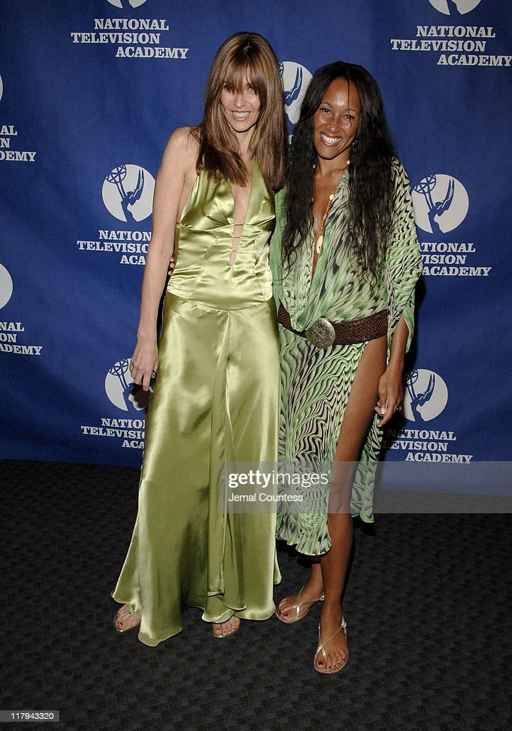 Carol Alt and Cynthia Garret during 26th Annual Sports Emmy Awards - Arrivals at Frederick P. Rose Hall at Jazz at Lincoln Center in New York City, New York, United States.