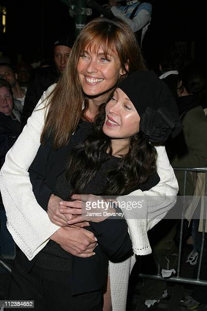 Carol Alt and Jaid Barrymore during The 72 Names of God By Kabbalist Rabbi Yehuda Berg at New Museum of Contemporary Art in New York New York United...