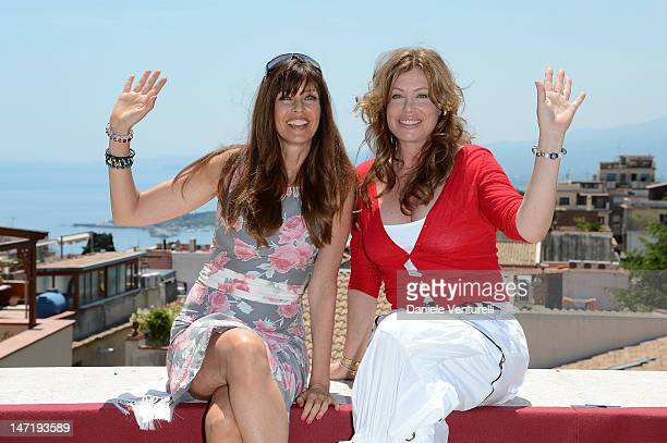 Carol Alt and Kelly LeBrock pose at the photocall of Day 5 during the 58th Taormina Film Fest on June 27 2012 in Taormina Italy