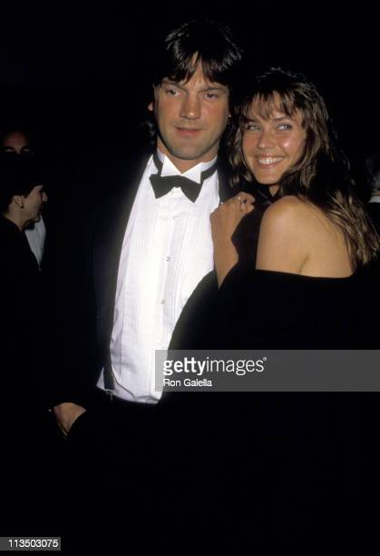 Carol Alt and Ron Greschner during 1987 Sports Awards Dinner April 30 1987 at Marriott Marquis Hotel in New York City New York United States