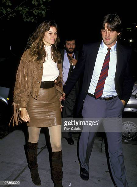 Carol Alt and Ron Greschner during Carol Alt and Ron Greschner Sighting at Elaine's Restaurant in New York City October 8 1997 at Elaine's Restaurant...