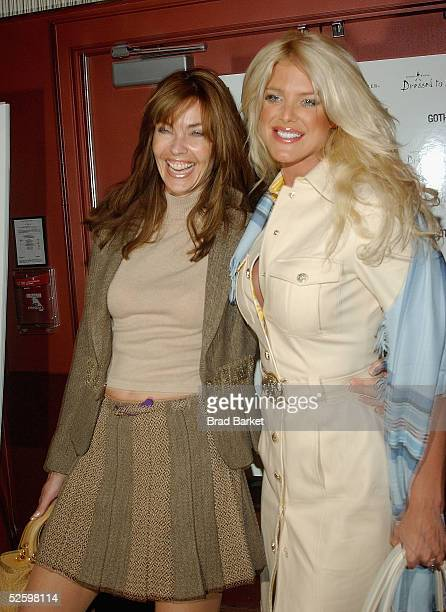 Carol Alt and Victoria Silvstedt arrives to the Johnnie Walker Presents Dreesed to Kilt fashion show at the Copacabana on April 6 2005 in New York