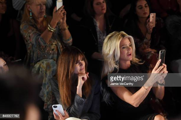 Carol Alt and Victoria Silvstedt attend Vivienne Tam fashion show during New York Fashion Week The Shows at Gallery 1 Skylight Clarkson Sq on...