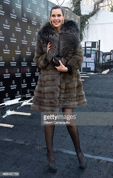 Carol Alt attends Dennis Basso fashion show during Fall 2014 Mercedes Benz Fashion Week on February 10 2014 in New York City