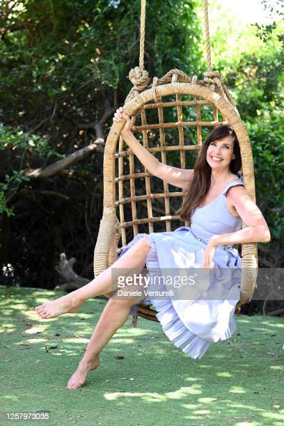 Carol Alt attends Filming Italy Sardegna Festival 2020 Day 3 Press Conference at on July 24, 2020 in Santa Margherita di Pula, Italy.