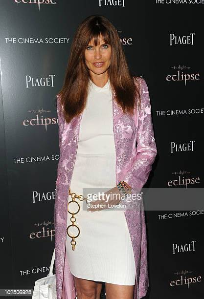 Carol Alt attends The Cinema Society Screening Of The Twilight Saga Eclipse at Crosby Street Hotel on June 28 2010 in New York New York