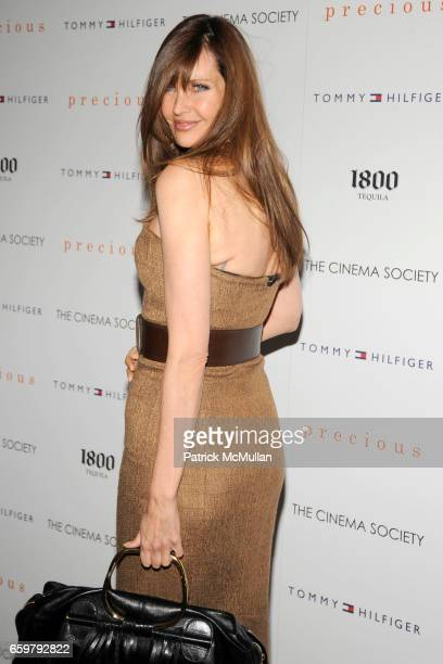 Carol Alt attends THE CINEMA SOCIETY TOMMY HILFIGER host a screening of PRECIOUS at Crosby Street Hotel on November 5 2009 in New York City