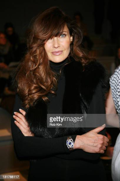 Carol Alt attends the Luca Luca Fall 2011 fashion show during MercedesBenz Fashion Week at The Stage at Lincoln Center on February 10 2011 in New...