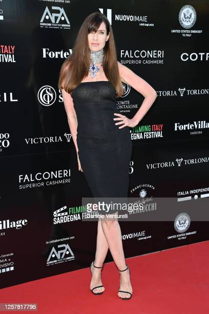 Carol Alt attends the second day of Filming Italy Sardegna Festival 2020 at Forte Village Resort on July 23 2020 in Cagliari Italy