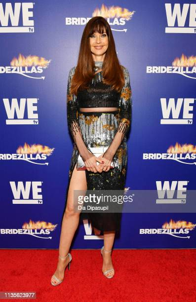 Carol Alt attends WEtv's premiere fashion event celebrating the return of Bridezillas on March 13 2019 at Angel Orensanz Foundation in New York City