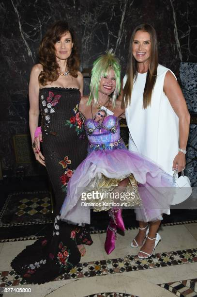 Carol Alt, Betsey Johnson and Brooke Shields attend the Accessories Council's 21st Annual celebration of the ACE awards at Cipriani 42nd Street on...