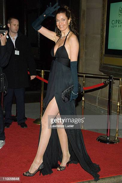 Carol Alt during AmfAR New York City Gala Honoring John Demsey Whoopi Goldberg and Bill Roedy Outside Arrivals at Ciprianis 42nd Street in New York...