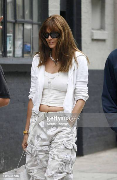 Carol Alt during Carol Alt and Alexi Yashin Sighting in SOHO August 26 2006 at SoHo in New York City United States