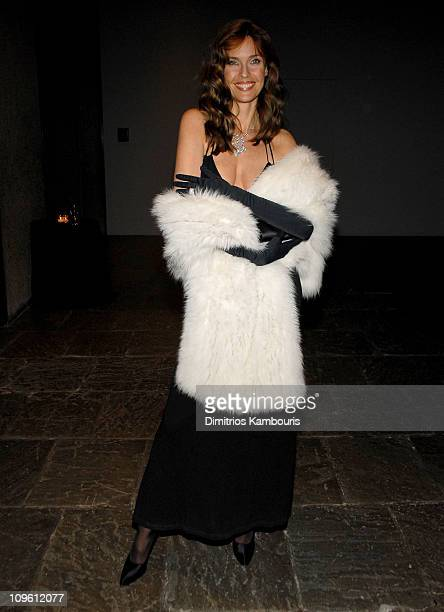 Carol Alt during Icons in Black White Tribute to American Fashion Designers at Whitney Museum in New York