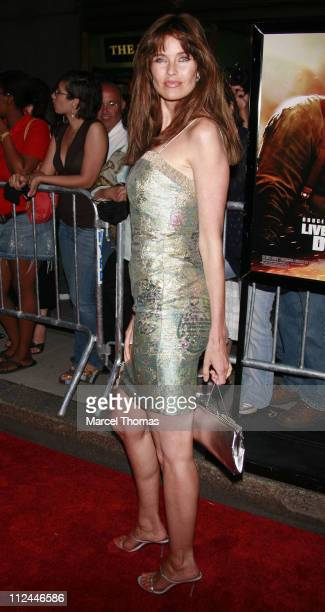 Carol Alt during Live Free or Die Hard New York City Primiere Arrivals at Radio City Music Hall at 1260 Avenue of the Americas in New York City New...