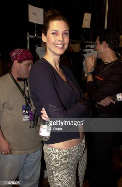Carol Alt during MercedesBenz Fashion Week Lloyd Klein Fall 2002 Collection at Puck Building Ballroom in New York City New York United States
