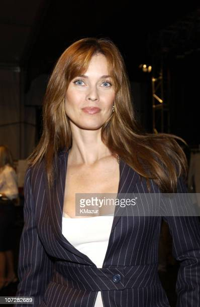 Carol Alt during MercedesBenz Fashion Week Spring Collections 2003 Tommy Hilfiger Show Backstage at Bryant Park in New York City New York United...