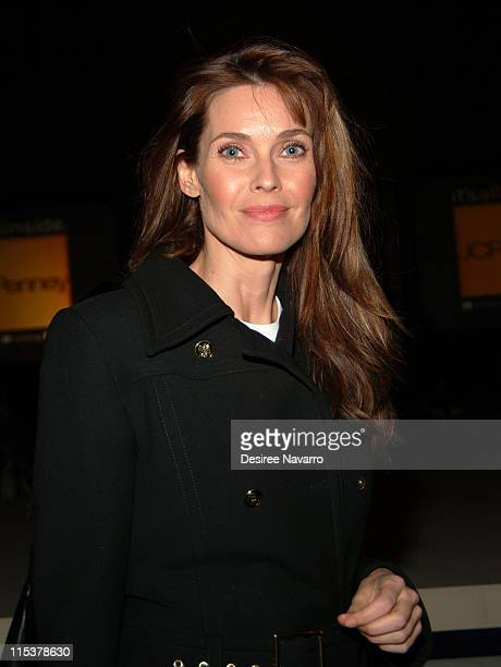 Carol Alt during Nicole by Nicole Miller Fashion Show Presented by JCPenney Arrivals Inside and Runway at The Four Seasons in New York City New York...