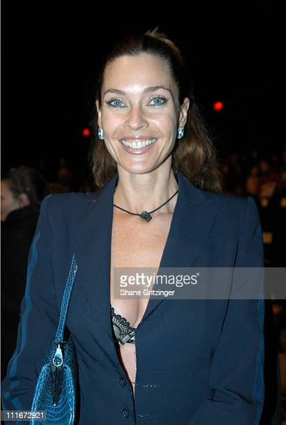 Carol Alt during Olympus Fashion Week Fall 2004 Bill Blass Runway and Front Row at The Tent at Bryant Park in New York City New York United States