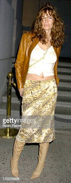 Carol Alt during The Cipriani Wall Street Concert Series Presents Sheryl Crow Arrivals at Ciprianis Wall Street in New York New York United States
