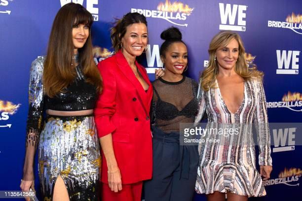 Carol Alt, Kelly Bensimon, Rachel Lindsay and Sonja Morgan attend WE TV 'Bridezillas' season 12 fashion show at The Angel Orensanz Foundation on...