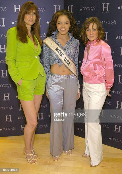 Carol Alt Miss USA Susie Castillo and Amy Carlson wearing H Hilfiger Spring 2004