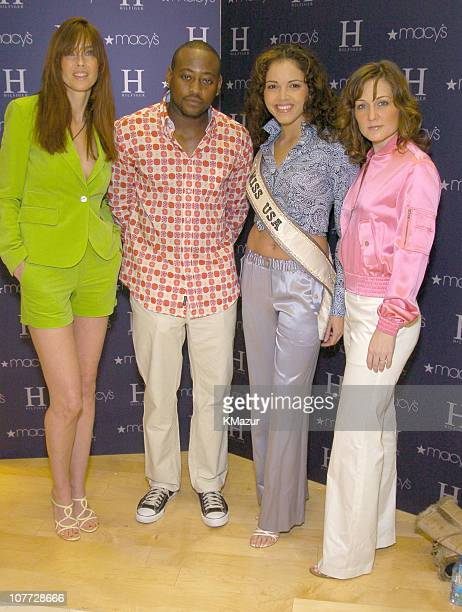 Carol Alt Miss USA Susie Castillo Omar Epps and Amy Carlson wearing H Hilfiger Spring 2004